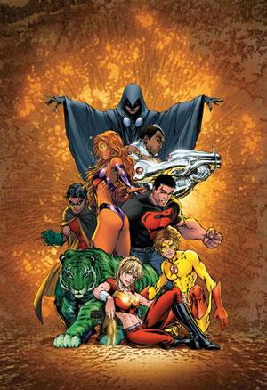 Póster de los Teen Titans de Michael Turner